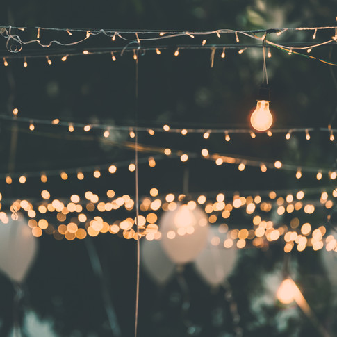 Lights at Exe Valley Weddings