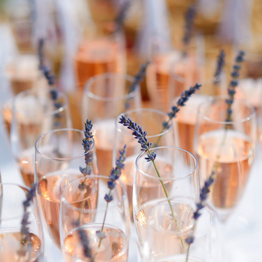 Champagne at Exe Valley Weddings