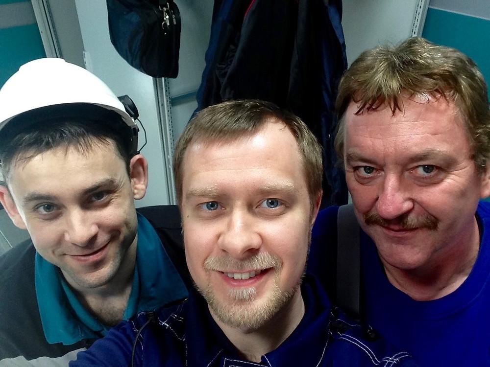 Sergey Liventsov, me and Harald Steinweg - a farewell photo.