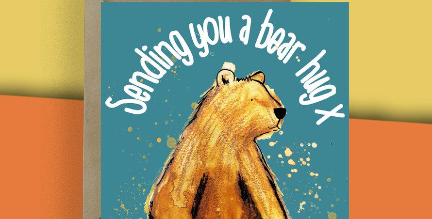 Sending you a bear hug Card