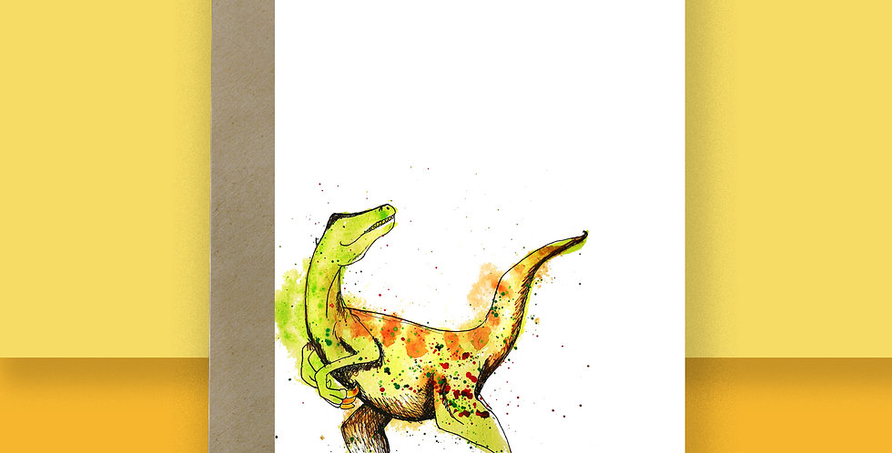 6x Velociraptor Blank Card