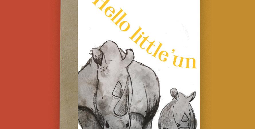 Hello little 'en  Rhino Card