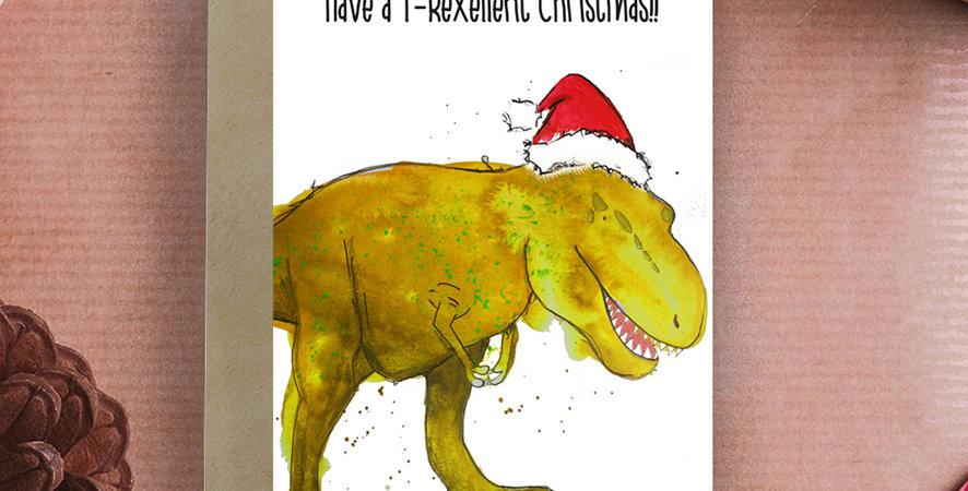 T-Rexellent Christmas! Christmas Card