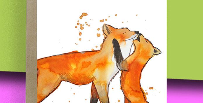 6x Fox Blank Card