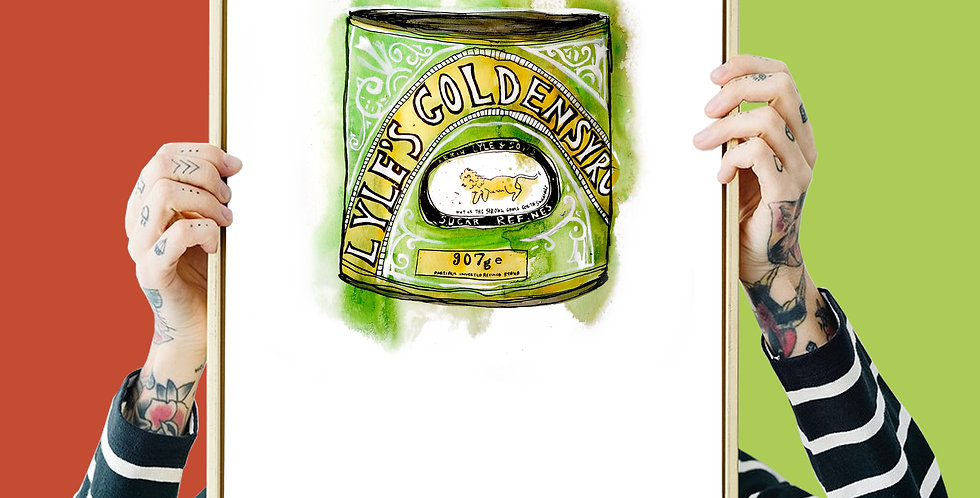 Golden Syrup Illustration Giclee Print A3 or A4