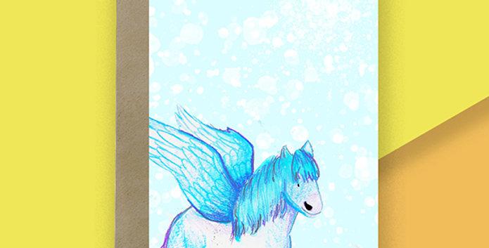 6x Pegasus Blank Card