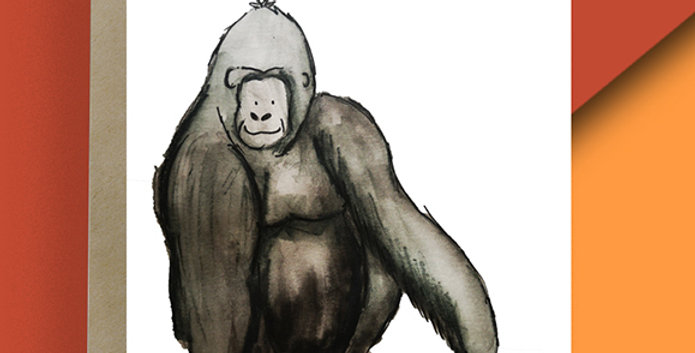 6x Gorilla Blank Card