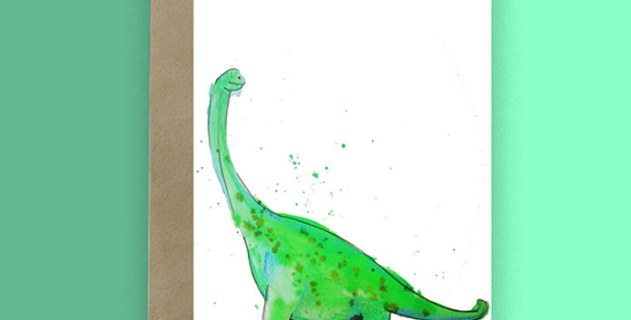 6x Brachiosaurus Blank Card
