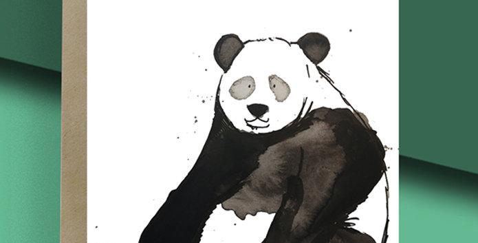 Panda Blank Card