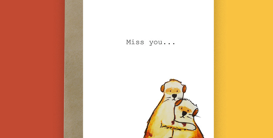 6x  Miss you Meerkats Card