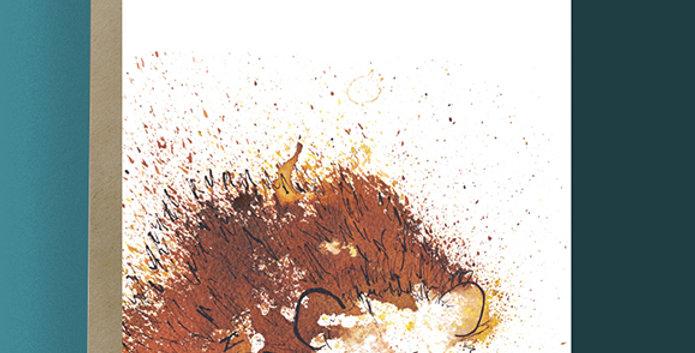 6x Hedgehog Blank Card