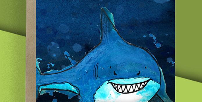 6x Shark Blank Card