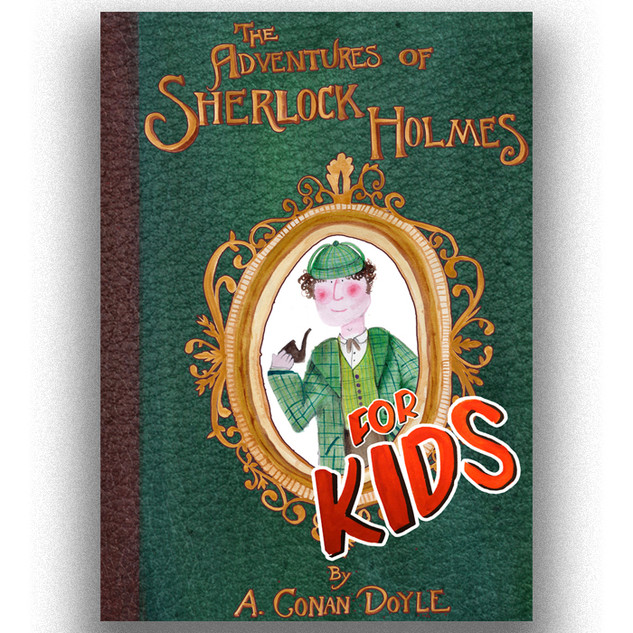 Sherlock holmes book cover design front cover Charlotte Hepburn