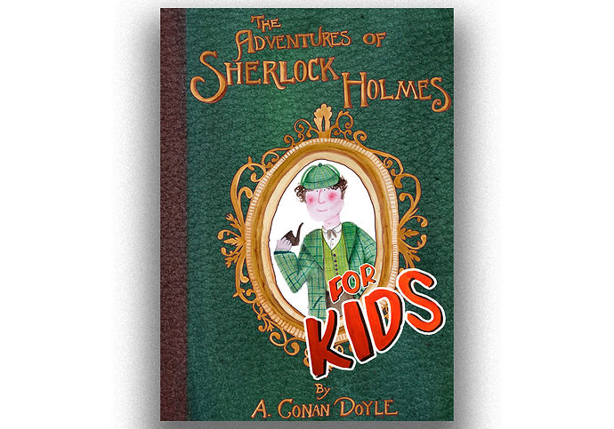 Sherlock holmes book cover design front