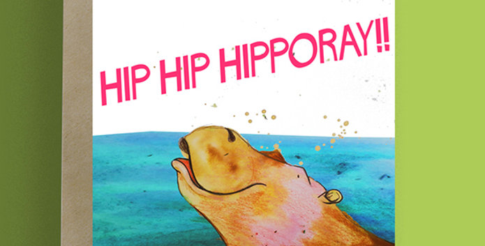 Hip Hip Hippo ray! Birthday Card
