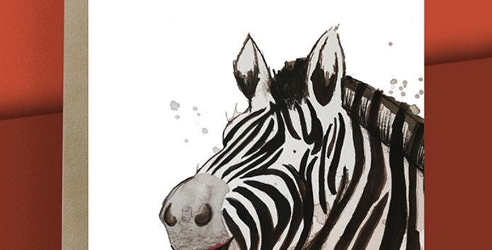 Zebra Blank Card