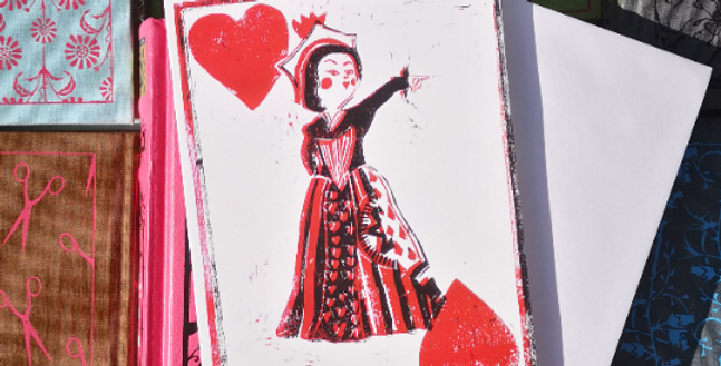 6x Alice in Wonderland Red Queen Blank Card