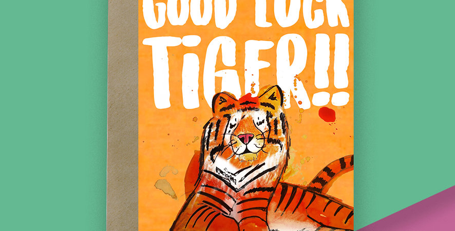 Good Luck Tiger Card