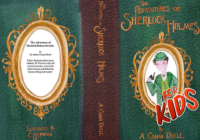 Sherlock holmes book cover design Spread