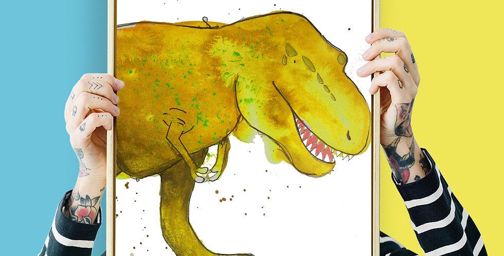 Tyrannosaurus Rex Illustration Giclee Print A3 or A3