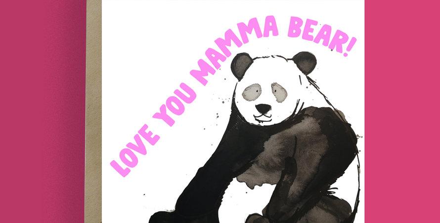 Love you mamma Bear Card
