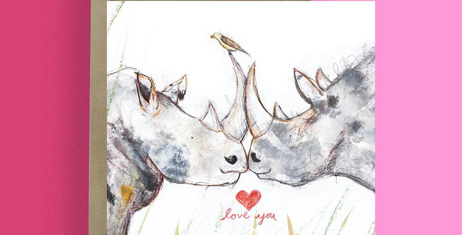 6x Love you Rhino Card
