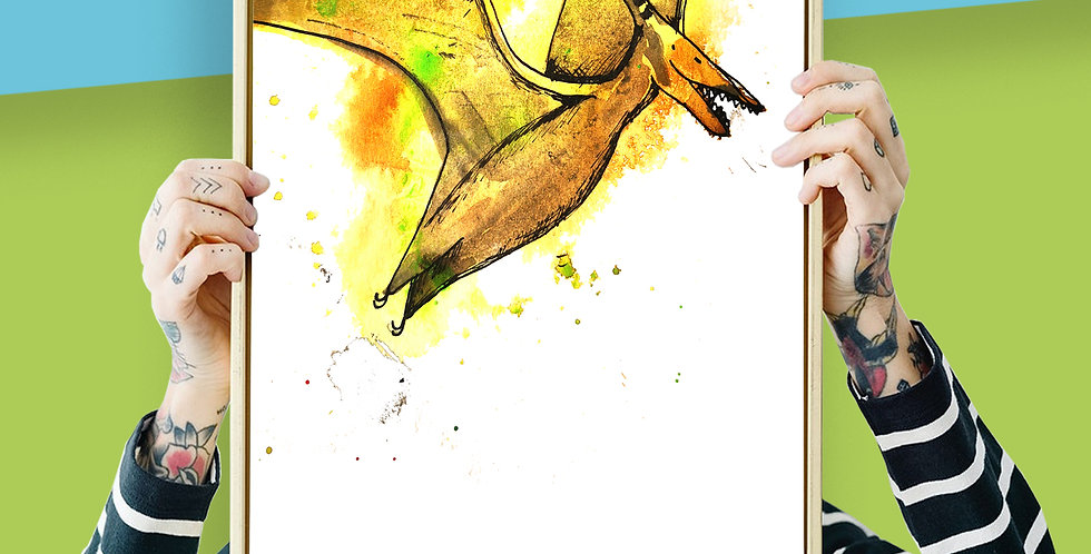 PterodactylIllustration Giclee Print A3 or A3
