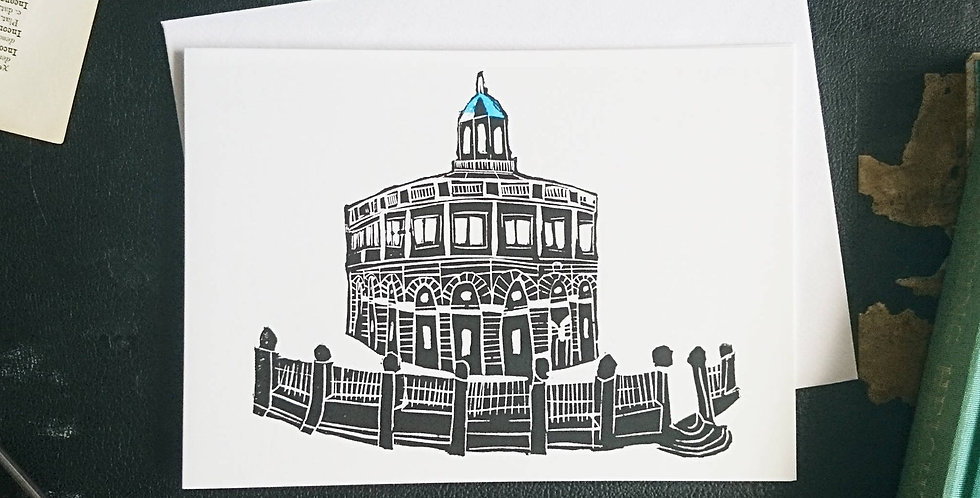 6x Oxford  Sheldonian Theatre Blank Card