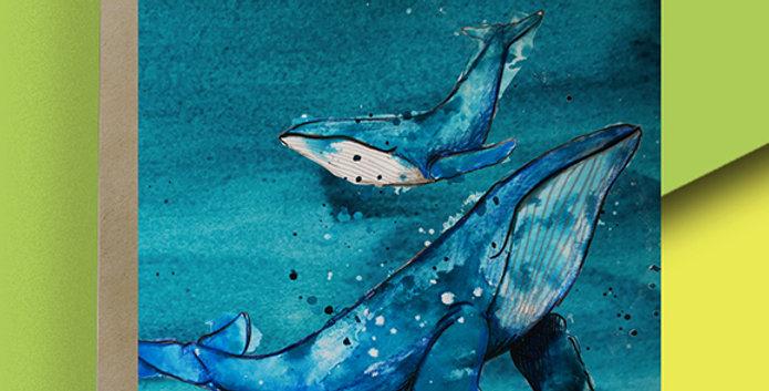 Whale Blank Card