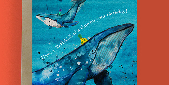 6x Have a Whale of a time on your birthday! Birthday Card