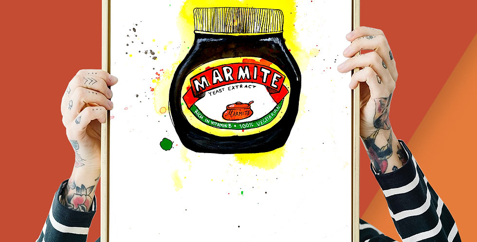 4 x Marmite Illustration Giclee Print A3 or A4