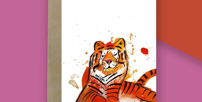 Tiger Blank Card