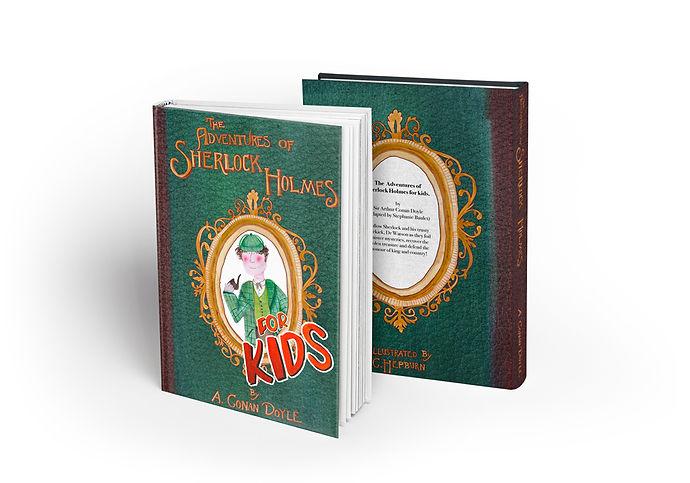 Sherlock holmes book cover design Mockup