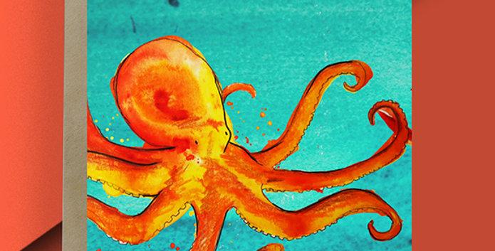 Octopus Blank Card