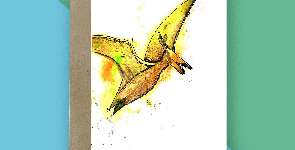 6x Pterodactyl Rex Blank Card