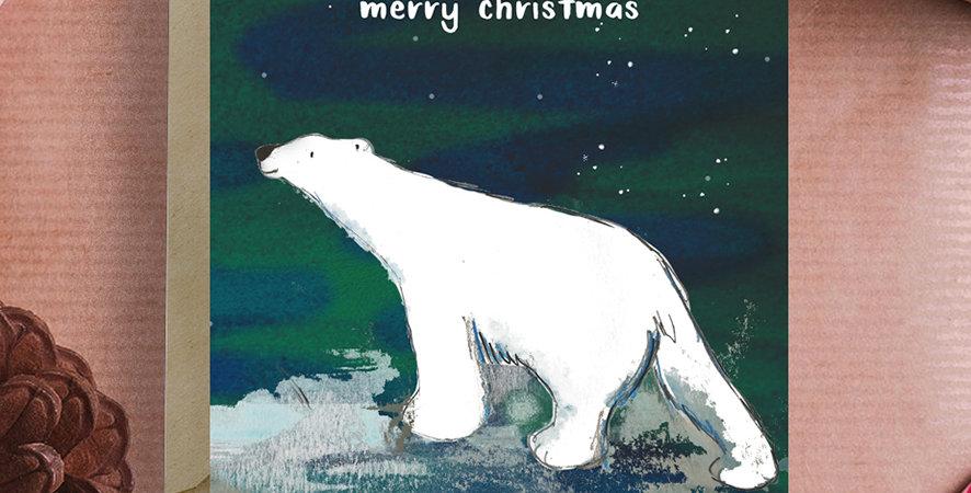 6x Polar Bear Christmas Card
