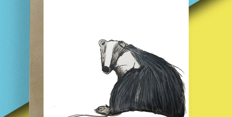 Badger Blank Card