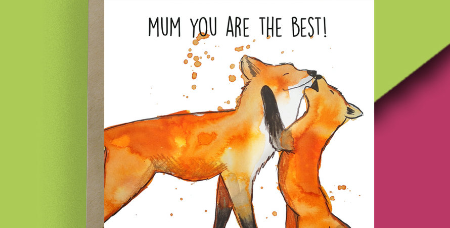 Mum you are the Best! Fox Card