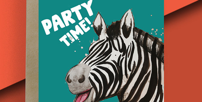Party Time! Zebra Card