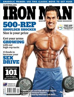 Iron man magazine fitness photograph
