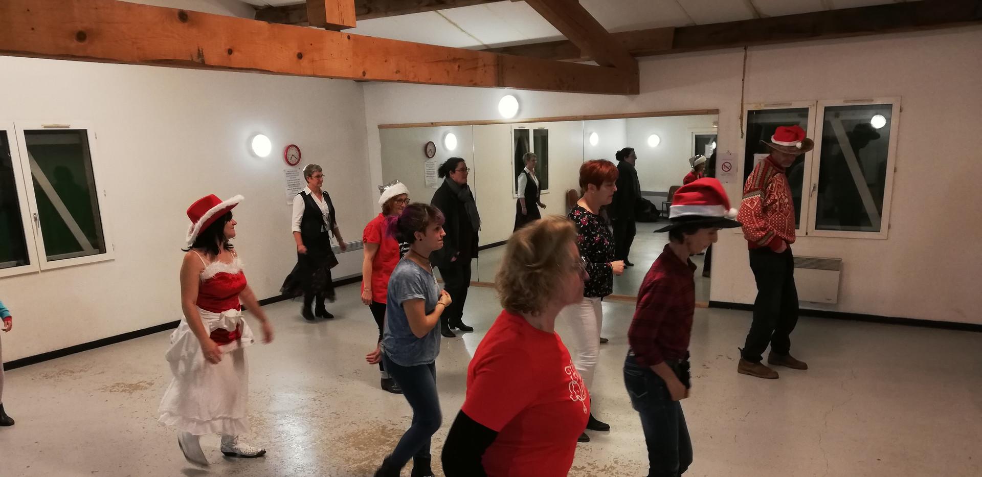 un cours de dance country... en Décembre !