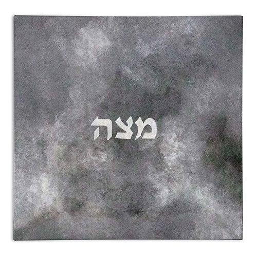 Modern Matzah Plate - Gray Tons