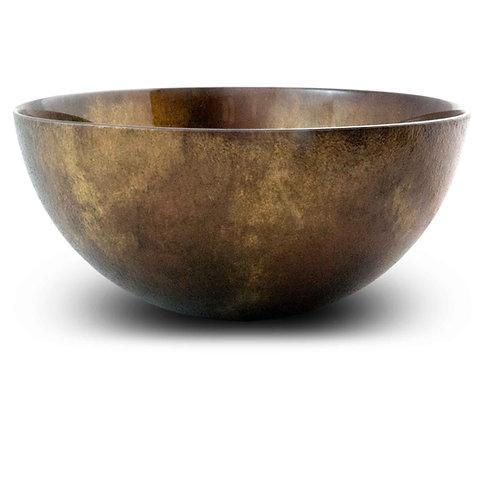 Copper Gold 8 inch Large Serving Bowl