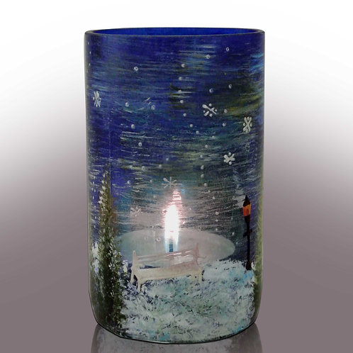Winter Scene Recycled Container