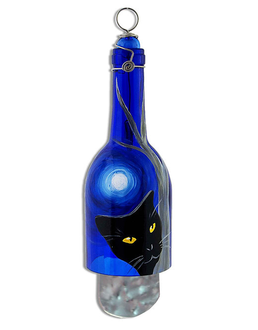 Wind Chime - Black Cat Moon