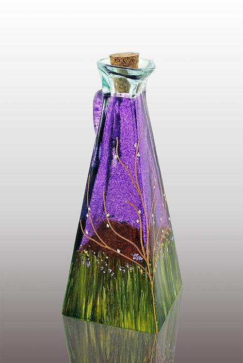 blueberry purple large oil and vinegar cruet