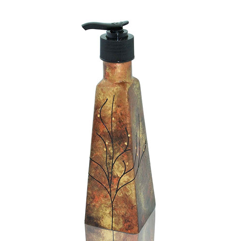 Copper Gold Soap Dispenser, 6 Ounce w/ Black Pump, For Bathroom and Kitchen