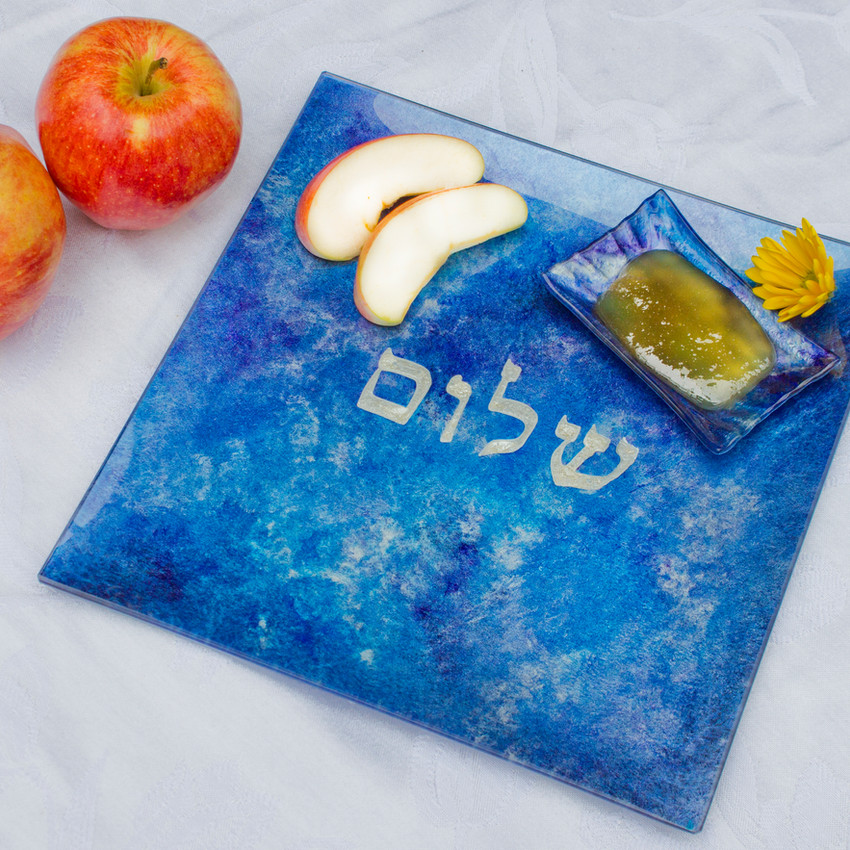 Square Plate with Shalom