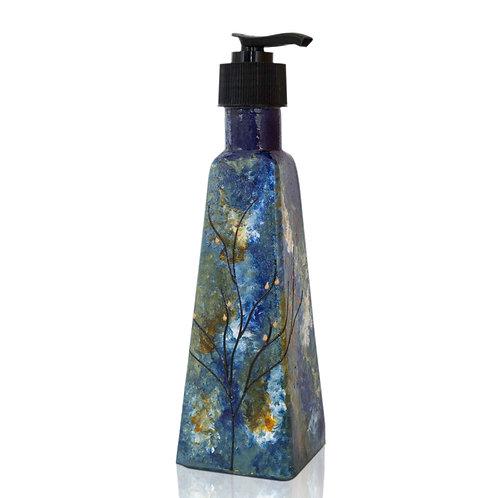 Soap Dispenser, w/ Black Pump, Ocean Blue, Bathroom and Kitchen Accessories