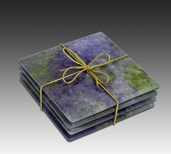 Coaster Set of 4 - Lavender Field